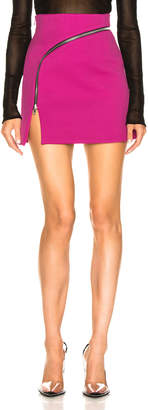 Alexander Wang Zip Detail Mini Skirt in Fuchsia | FWRD