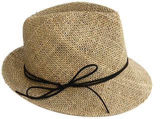Justine Hats Classic Fedora Straw Hat