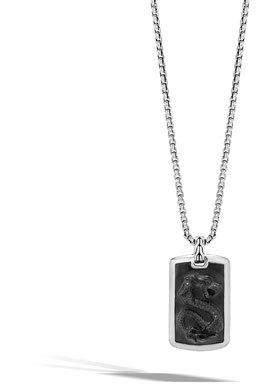 John Hardy Men's Batu Dragon Dog Tag Necklace