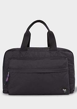 Men's Black 'Zebra' Logo Duffle Bag