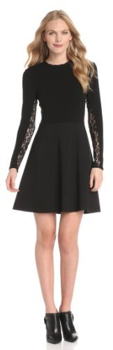 Rebecca Taylor Women's Ponte and Lace Dress