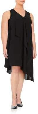 Adrianna Papell Plus Ruffled Chiffon Dress