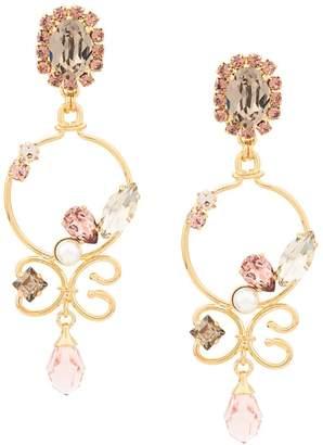 Erdem crystal drop earrings