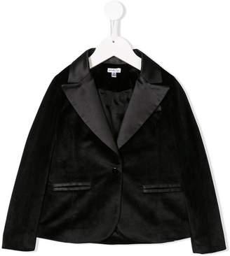 Piccola Ludo velvet peaked lapel blazer