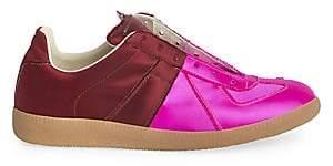 Maison Margiela Women's Replica Satin Bicolor Low-Top Sneakers