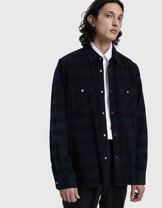 Sacai Flannel Check Button Up Shirt