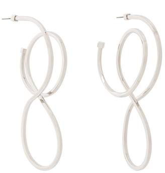 Balenciaga Circle Elastic Earrings