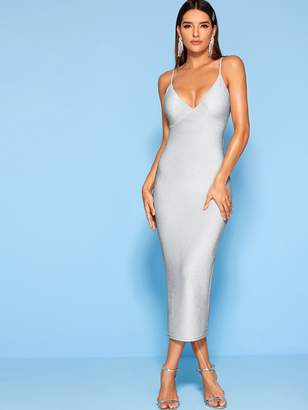 Shein Glitter Sparkle Sheath Prom Cami Dress