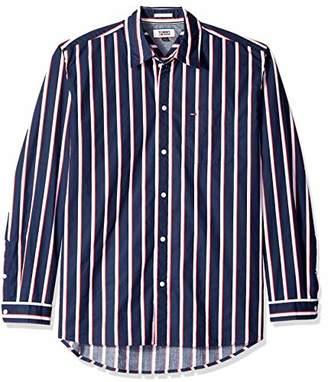 Tommy Hilfiger Tommy Jeans Men's Button Down Shirt Bold Stripe