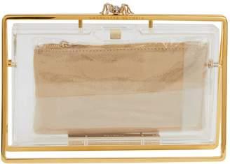 Charlotte Olympia Gold Metal Clutch Bag