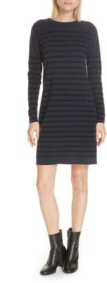 Allude Stripe Wool & Cashmere Sweater Dress
