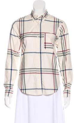 Isabel Marant Plaid Button-Up Top