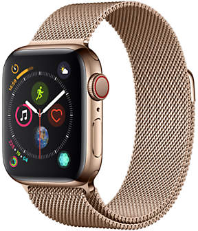Apple Watch Series 4, GPS and Cellular, 40mm Stainless Steel Case with Milanese Loop, Gold