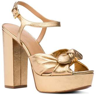 MICHAEL Michael Kors Women's Pippa Leather Platform High Heel Sandals