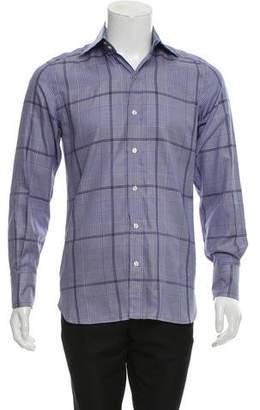 Tom Ford Glen Plaid Button-Up Shirt