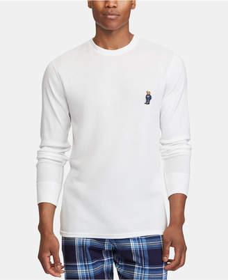 Polo Ralph Lauren Bear Men Ultra Soft Waffle-Knit Thermal Shirt