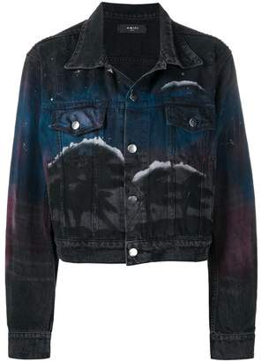 Amiri printed denim jacket