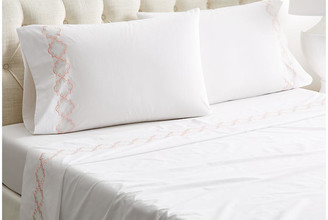 Hamburg House Quatrefoil Sheet Set - White/Pink