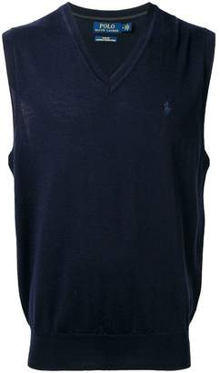 Polo Ralph Lauren logo knitted vest