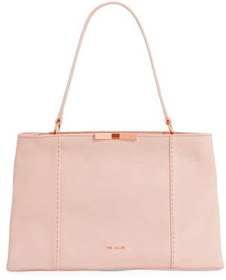 Ted Baker Logo Leather Tote