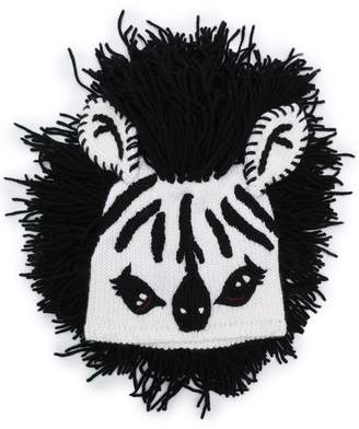 Dolce & Gabbana zebra fringed hat