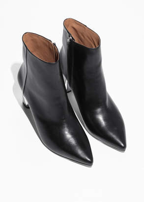 Metal Heel Ankle Boot