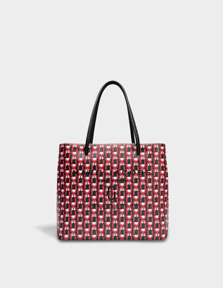 Marc Jacobs EW Logo Shopper Bag in Red Split Cow Leather