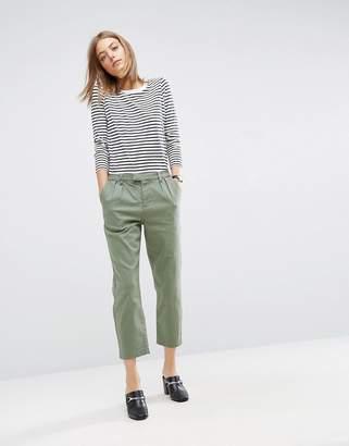 Asos Design Denim Trousers in Washed Khaki