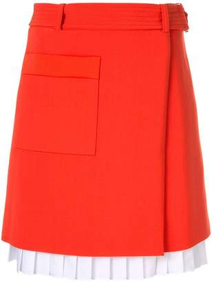 Victoria Beckham Victoria front-wrap mini skirt