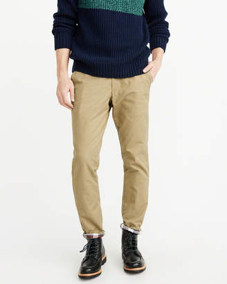 Abercrombie & Fitch Flannel-Lined Chino