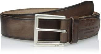 John Varvatos Men's Leather Belt with Heat Crease 40mm