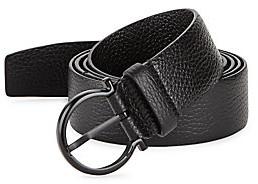 Salvatore Ferragamo Men's Gancio Buckle Belt with Extended Strap