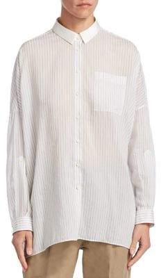 Brunello Cucinelli Striped Oversized Shirt