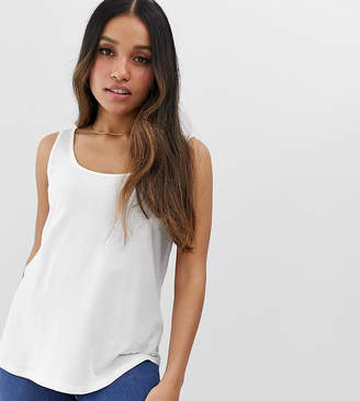 Asos DESIGN Petite ultimate tank in white