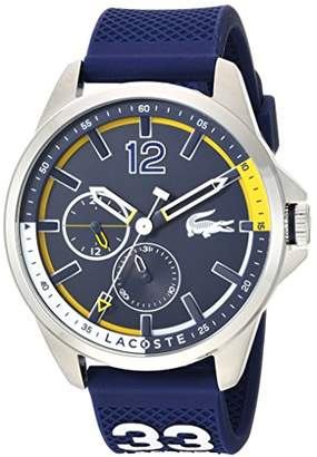 Lacoste Men's 'CAPBRETON' Quartz Stainless Steel and Silicone Casual Watch