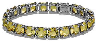 David Yurman 7mm Linear Faceted Bracelet with Diamond Prongs