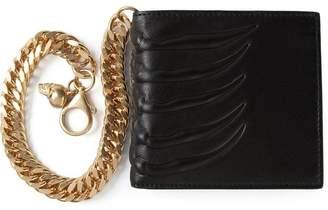 Alexander McQueen claw embossed wallet