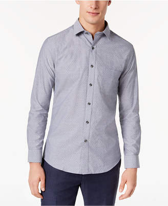 Bar III Men's Wear-Me-Out Slim-Fit Stretch Easy-Care Large Dobby Dot Dress Shirt, Created For Macy's