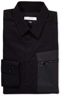 Versace Black Zip Pocket City Fit Dress Shirt