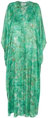 DAY Birger et Mikkelsen MÄRTA LARSSON Green Chrysocolla Printed Silk Kaftan Maxi Dress