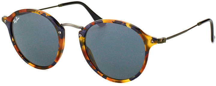 Ray-Ban Rb 2447 1158r5 52mm Spotted Blue Havana Round Sunglasses.