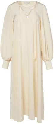 Tibi Silk Tie Front Tunic Dress