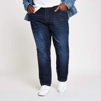 e2ce3024 River Island Mens Big and Tall dark Blue Dylan slim fit jeans