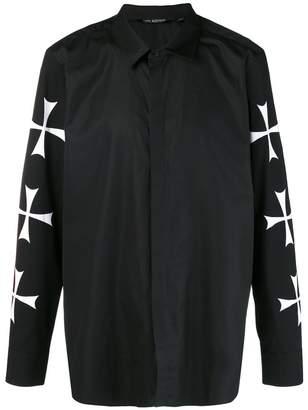 Neil Barrett cross sleeve shirt