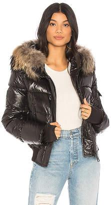 SAM. Skyler Puffer Jacket with Raccoon Fur