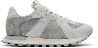 Maison Margiela White Painted Retro Runner Sneakers