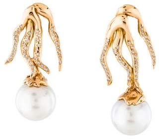 Lucifer Vir Honestus 18K Pearl & Diamond Drop Earrings