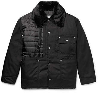 Maison Margiela Faux Shearling And Pu-Trimmed Quilted Canvas Jacket