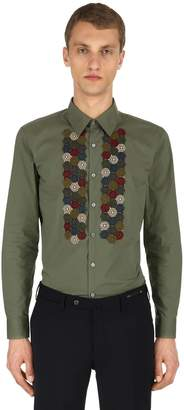 Antonio Marras Embroidered Cotton Poplin Shirt