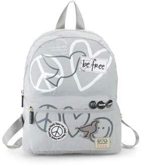 Peace Love World Pooch Graphic Backpack
